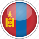 circle, country, flag, mongolia, national icon