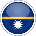 circle, country, flag, national, nauru icon