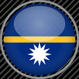 circle, country, flag, national, nauru icon