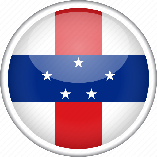circle, country, flag, national, netherlands antilles icon