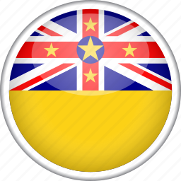 circle, country, flag, national, niue icon