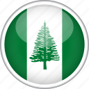 circle, country, flag, national, norfolk island icon