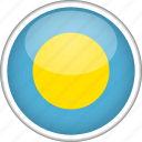 circle, country, flag, national, palau icon