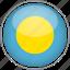 circle, country, flag, national, palau icon