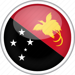 circle, country, flag, national, papua new guinea icon