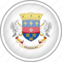 circle, country, flag, national, saint barthelemy icon