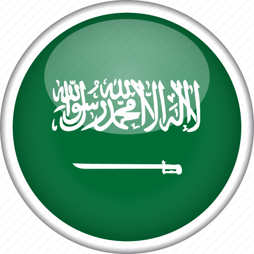 circle, country, flag, national, saudi arabia icon