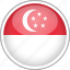 circle, country, flag, national, singapore icon