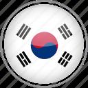circle, country, flag, national, south korea