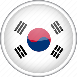 circle, country, flag, national, south korea icon