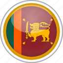 circle, country, flag, national, srilanka icon