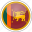 circle, country, flag, national, srilanka icon