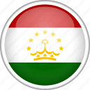 circle, country, flag, national, tajikistan icon