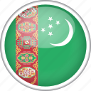 circle, country, flag, national, turkmenistan icon