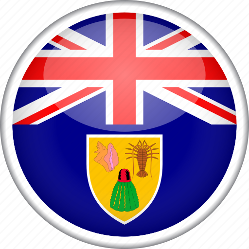 circle, country, flag, national, turks and caicos icon
