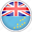 circle, country, flag, national, tuvalu icon