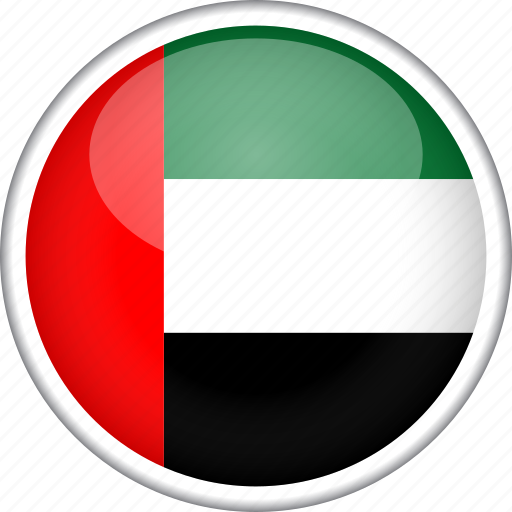 circle, country, flag, national, uae icon