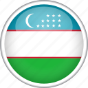 circle, country, flag, national, uzbekistan icon