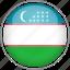 circle, country, flag, national, uzbekistan icon