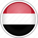 circle, country, flag, national, yemen icon