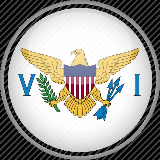 circle, country, flag, national, virgin icon