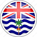 british indian ocean territory, circle, country, flag, national icon