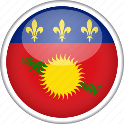 circle, country, flag, guadeloupe, national icon