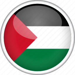 circle, country, flag, national, palestine icon