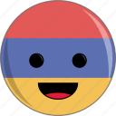 armenia, awesome, country, cute, face, flags icon