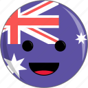 australia, awesome, country, cute, face, fantastic, flags icon