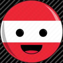 austria, awesome, cute, europe, face, fantastic, flags icon