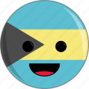 awesome, bahamas, country, cute, face, flags icon
