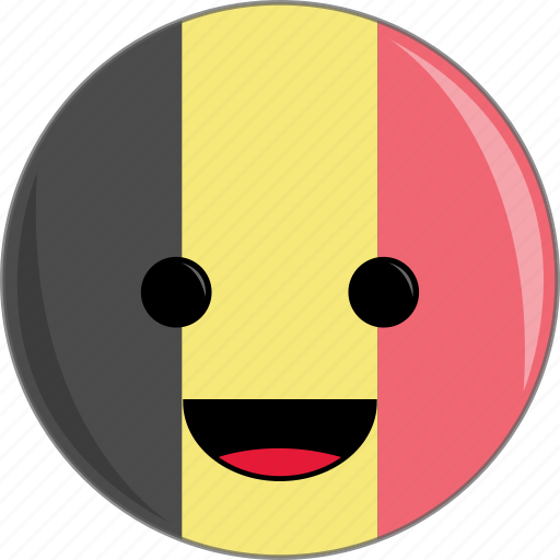awesome, belgium, country, cute, face, flags icon