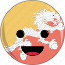 awesome, bhutan, country, cute, dragon, face, flags