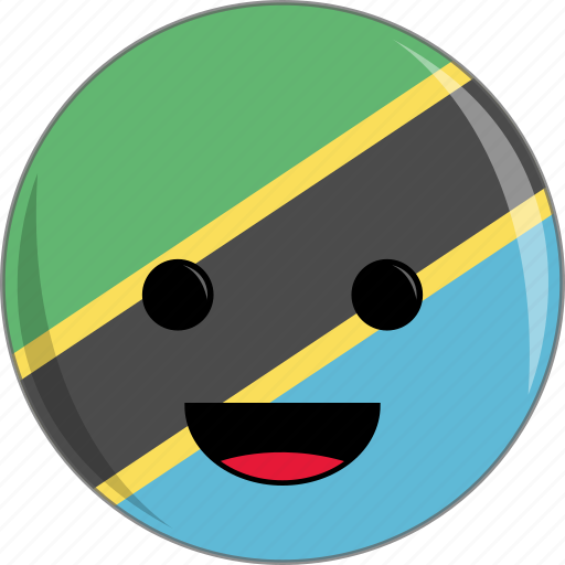 awesome, country, cute, face, flags, tanzania icon