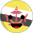 awesome, brunei, country, cute, face, flags, peace icon