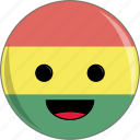 awesome, bolivia, cute, face, flags, latino icon