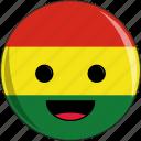 awesome, bolivia, cute, face, flags, latino icon