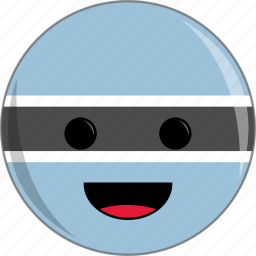 awesome, botswana, country, cute, face, flags icon
