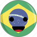 awesome, brazil, cute, face, flags, peace, portuguese icon