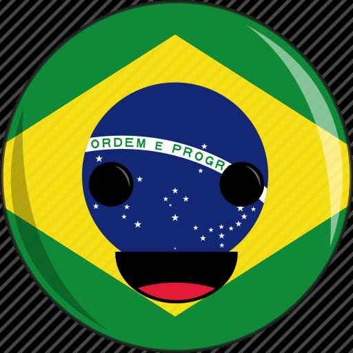 awesome, brazil, cute, face, flags, peace, portuguese icon