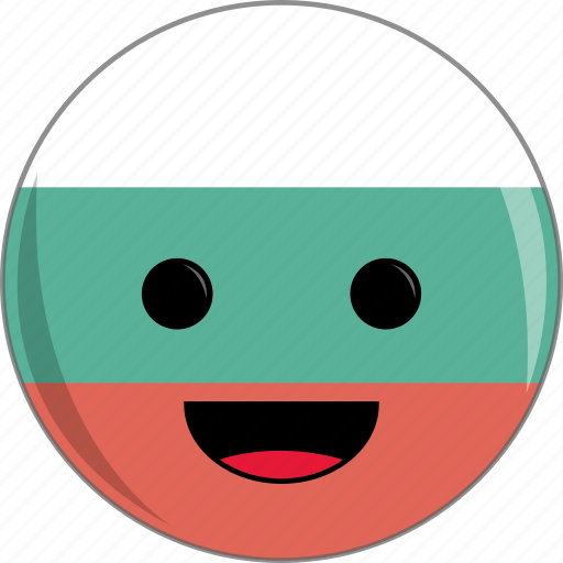 awesome, bulgaria, country, cute, face, flags icon