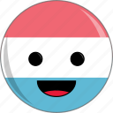 awesome, country, cute, face, fantastic, flags, luxembourg icon