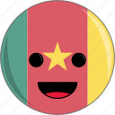awesome, cameroon, country, cute, face, flags icon
