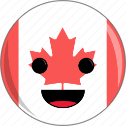 awesome, canada, cold, country, cute, face, flags icon