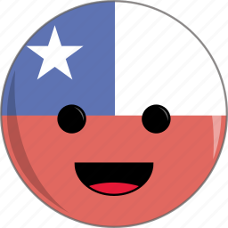 awesome, chile, country, cute, face, flags, latino icon