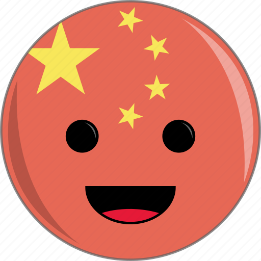 awesome, china, country, cute, face, fantastic, flags icon
