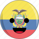 awesome, country, cute, ecuador, face, flags, latino icon