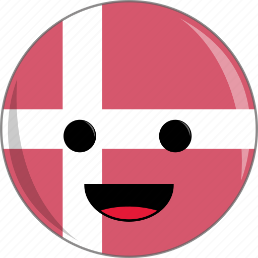awesome, countries, country, cute, denmark, face, flags icon