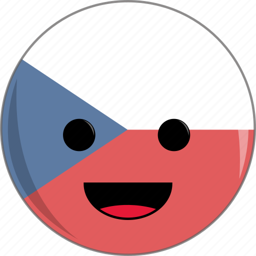 awesome, country, cute, czech, face, flags, republic icon